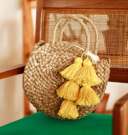 brunna co Petite Luna Bag-Yellow Tassels