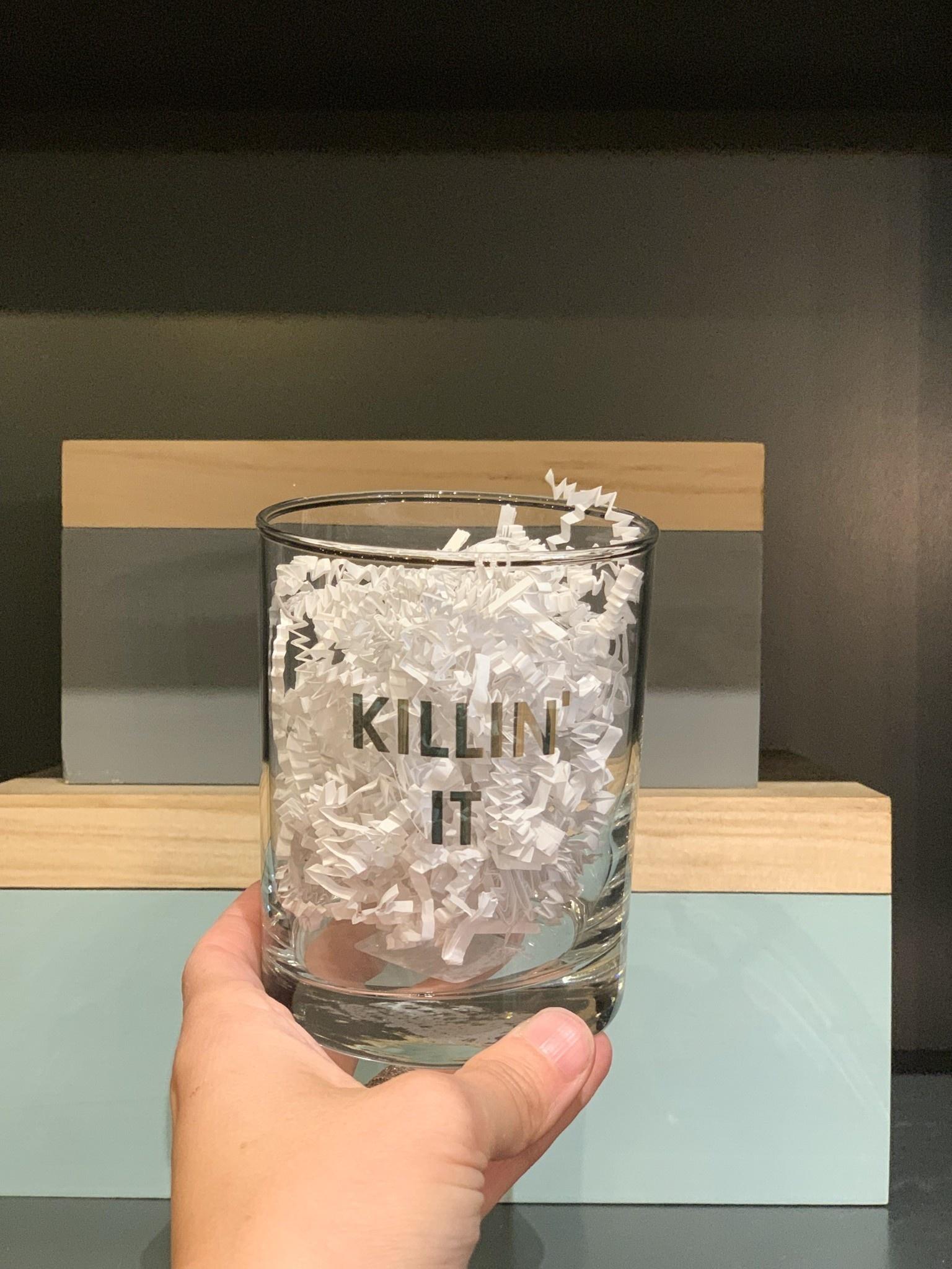 Chez Gagne Killin' it rocks glass