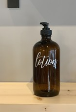 Heartland Lettering Glass Bottle Lotion