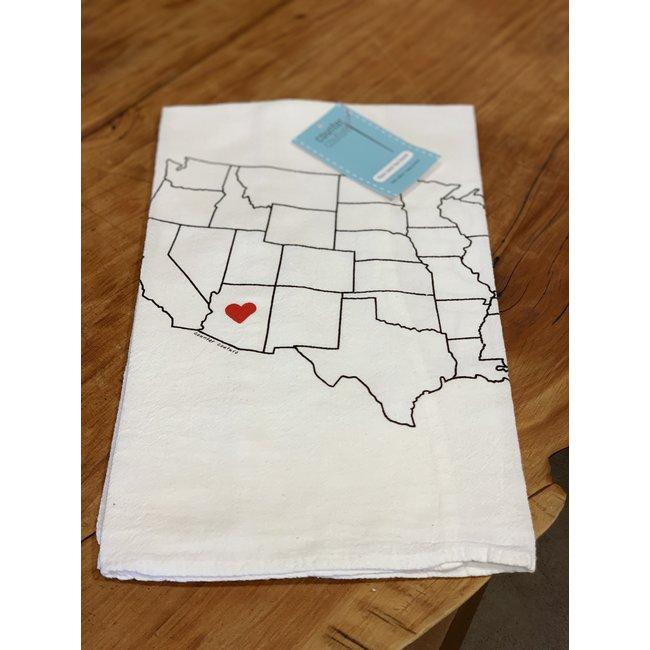 AZ love dishtowel