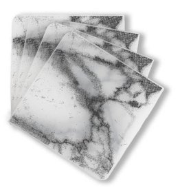 Modern Twist Coasters Marble- Gray S/4