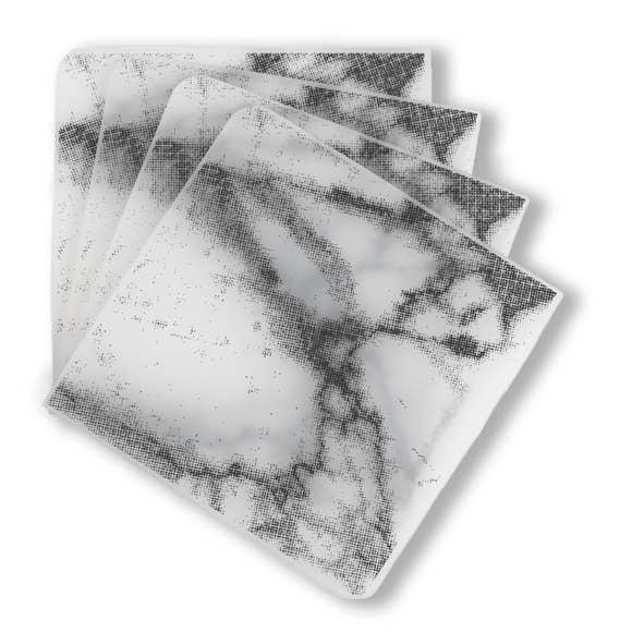 Modern Twist Coasters Marble- Gray S/4
