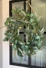 "K&K Interiors Eucalyptus & Berry wreath 22"""