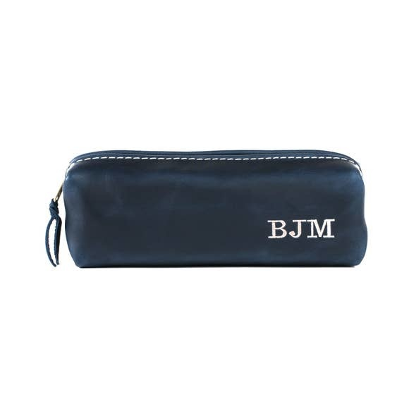 Lifetime Leather Co Mini Shave Bag Liquor-Ink Blue