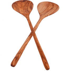 sobremesa Olive wood simple salad set