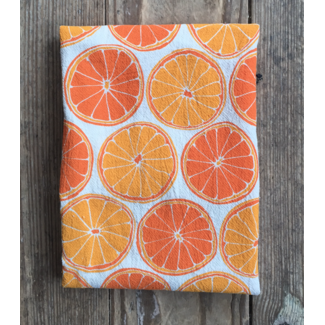 Flour Sack Dishtowel, Oranges