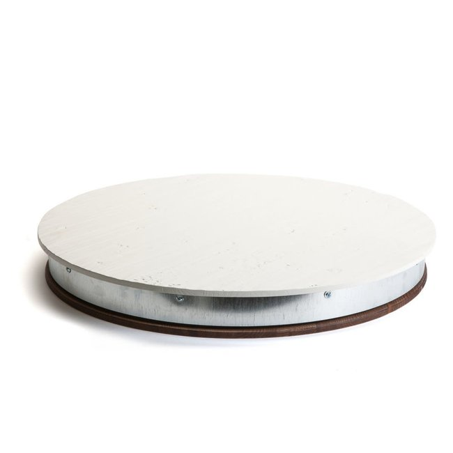 Bianca White Barrel Lazy Susan