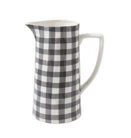 Creative Co-Op Gingham Pitcher