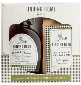 finding home farms Pancake Mix/Syrup Box