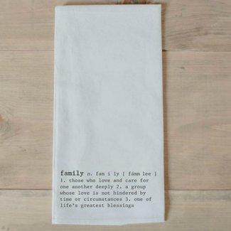 Family Definition Tea Towel
