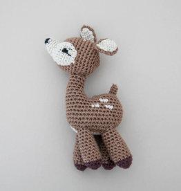 cheengoo Fawn Hand Crocheted Rattle