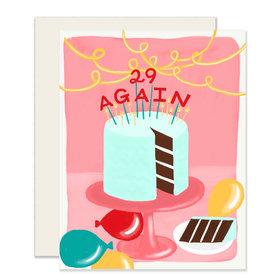 Slightly 29 Again Card