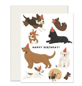 Slightly Dogs Birthday Card