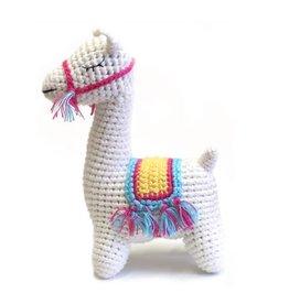 cheengoo Llama Hand Crocheted Rattle
