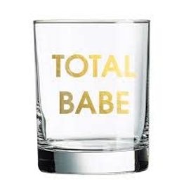 Chez Gagne Total Babe Rocks Glass