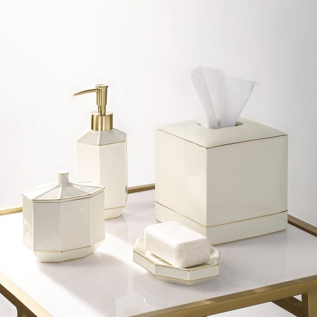 St. Honore Cotton Jar White