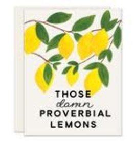 Slightly Damn Lemons Card
