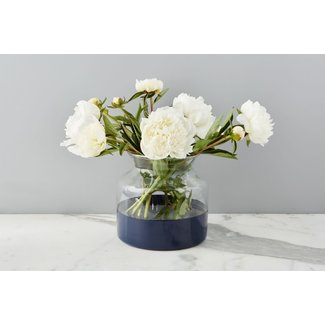 Navy Colorblock Flower Vase
