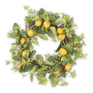 "K&K Interiors 13"" Lemon and Foliage Wreath"