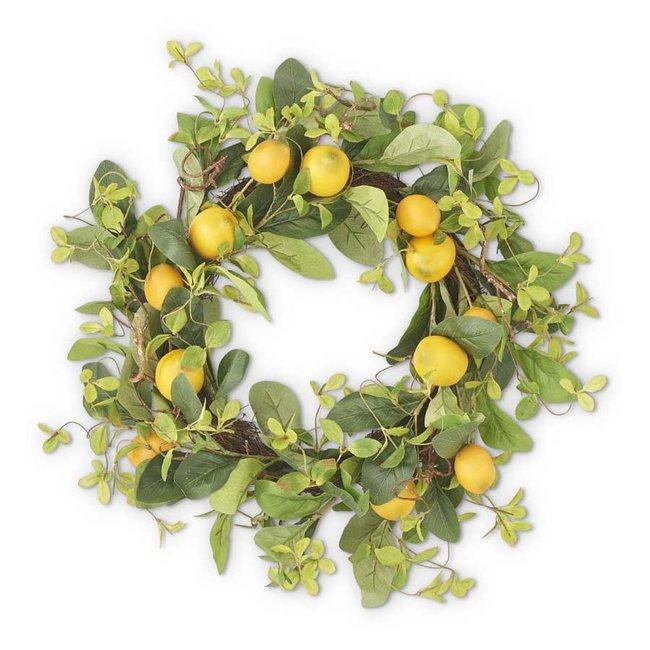 "13"" Lemon and Foliage Wreath"