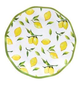 Sophistiplate Wavy Salad Plate Lemon Drop