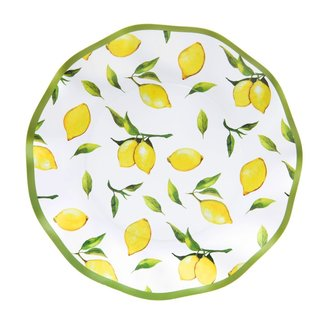Wavy Salad Plate Lemon Drop