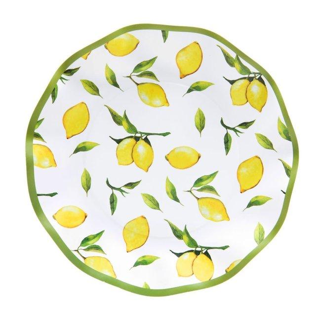 Wavy Salad Plate Lemon Drop