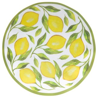 Wavy Dinner Plate Lemon Drop