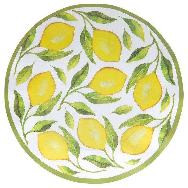 Wavy Dinner Plate Lemon Drop