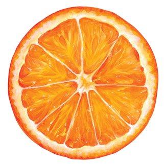 Die-Cut Orange Slice Placemat