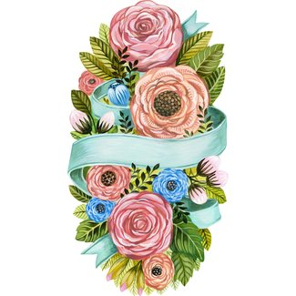 Spring floral accent decor