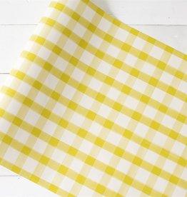Yellow Painted Check Runner