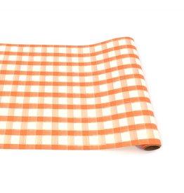 Orange Painted Check Runner