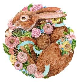 Die-Cut Bunny Bouquet Placemat