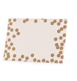Gold Confetti Place Card