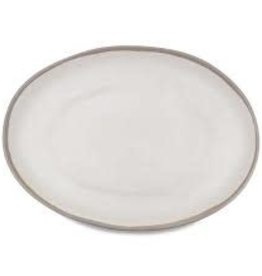 Potter Stone Grey Oval Platter