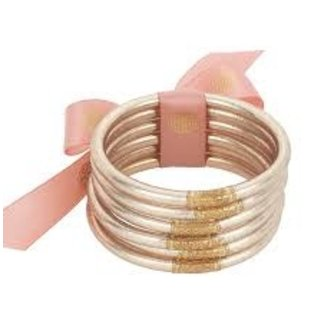 Pink Champagne Bangles Set of 6