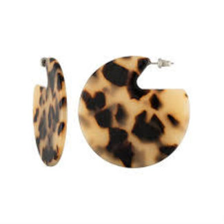 Clare Earrings Blonde Tortoise