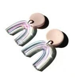 Sigfus Designs Mini Arch Earrings - Holographic Shimmer