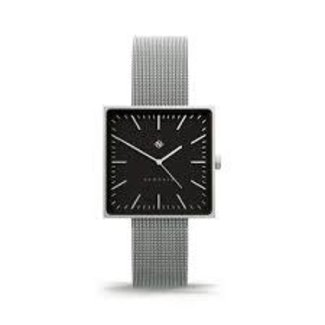 Cubeline Square Silver Steel Watch