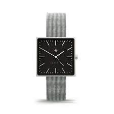 Newgate Watches Cubeline Square Silver Steel Watch