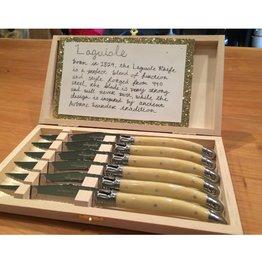 Laguiole 6pc Knives Facon Corne Classic