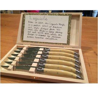 Laguiole Laguiole 6pc Knives Facon Corne Classic