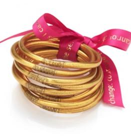 BuDhaGirl Gold Bangles Set of 9