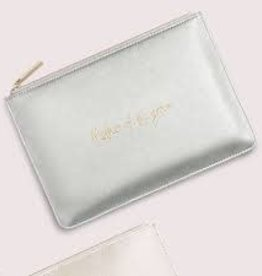 Katie Loxton Mother of the Groom Pouch Metallic Silver