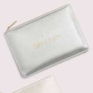 Mother of the Groom Pouch Metallic Silver