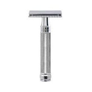 DE Safety Razor, knurled effect handle