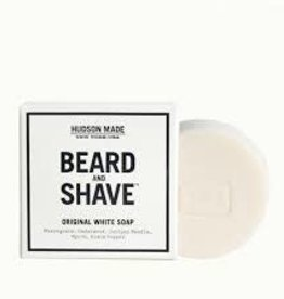 hudson made Original White Beard & Shave Soap