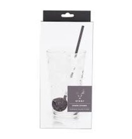 TRUE Julep Spoon Straw Gunmetal Black