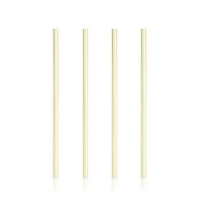 TRUE Belmont Wide Gold Cocktail Straws